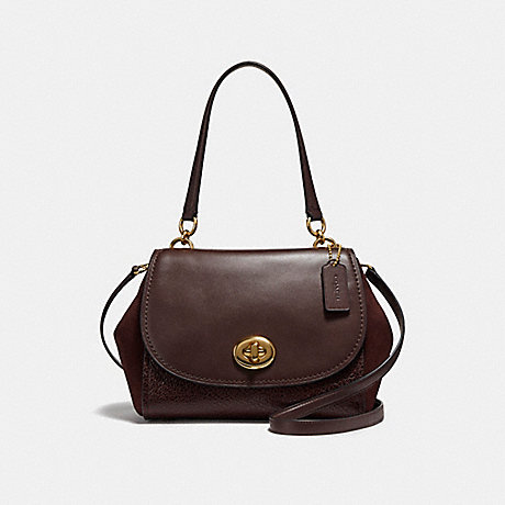 COACH f22348 FAYE CARRYALL LIGHT GOLD/OXBLOOD 1