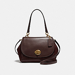 FAYE CARRYALL - f22348 - LIGHT GOLD/OXBLOOD 1