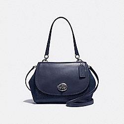 COACH F22348 Faye Carryall ANTIQUE NICKEL/MIDNIGHT