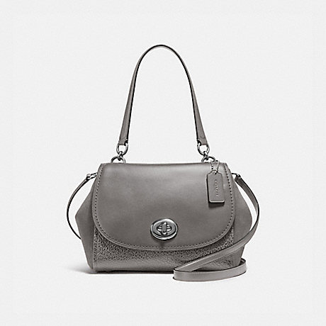 COACH F22348 FAYE CARRYALL HEATHER-GREY/SILVER
