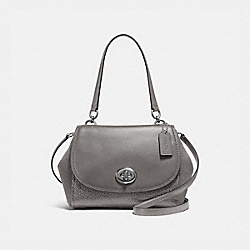 COACH F22348 Faye Carryall HEATHER GREY/SILVER