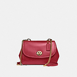 FAYE CROSSBODY - f22349 - LIGHT GOLD/TRUE RED
