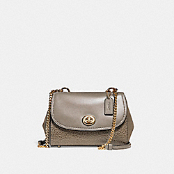 FAYE CROSSBODY - f22349 - FOG/LIGHT GOLD