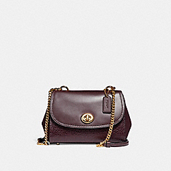 FAYE CROSSBODY - f22349 - LIGHT GOLD/OXBLOOD 1