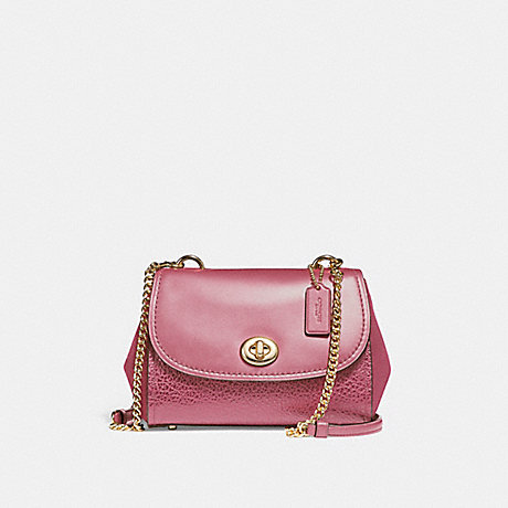 COACH f22349 FAYE CROSSBODY<br>蔻驰菲包包 光金/ROUGE