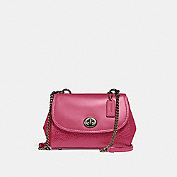 FAYE CROSSBODY - f22349 - BLACK ANTIQUE NICKEL/MAGENTA