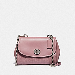 FAYE CROSSBODY - f22349 - SILVER/DUSTY ROSE