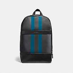 CHARLES SLIM BACKPACK WITH VARSITY STRIPE - f22374 - NIMS9