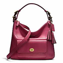 COACH F22381 - LEATHER COURTENAY HOBO BRASS/DEEP PORT