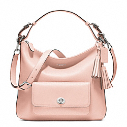 LEATHER COURTENAY HOBO - f22381 - SILVER/BLUSH
