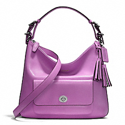 LEATHER COURTENAY HOBO - f22381 - SILVER/PERIWINKLE