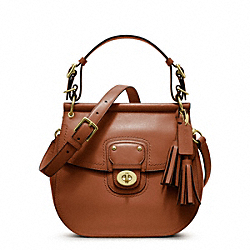 COACH F22382 - LEATHER WILLIS BRASS/COGNAC