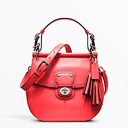 COACH F22382 Leather Willis SILVER/BRIGHT CORAL