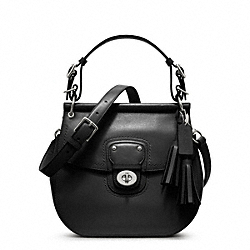 COACH F22382 - LEATHER WILLIS SILVER/BLACK