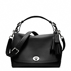 COACH F22383 - ROMY TOP HANDLE IN LEATHER  SILVER/BLACK