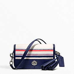 COACH F22396 - STRIPE PRINT PENNY SHOULDER PURSE ONE-COLOR