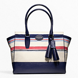 COACH F22397 - STRIPE PRINT MEDIUM CANDACE CARRYALL ONE-COLOR