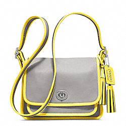 COACH F22408 - ARCHIVAL TWO TONE LEATHER RAMBLER SILVER/GREY/LEMON