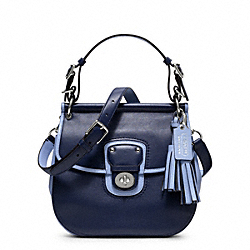 COACH F22409 Archival Two-tone Leather Willis SILVER/NAVY/CHAMBRAY