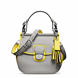 COACH F22409 - ARCHIVAL TWO-TONE LEATHER WILLIS SILVER/GREY/LEMON