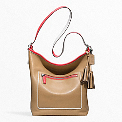 CONTRAST POP LARGE DUFFLE - f22414 - SILVER/LIGHT SAND MULTICOLOR