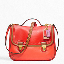 COACH F22427 Poppy Leather Colorblock Dylan Flap Satchel