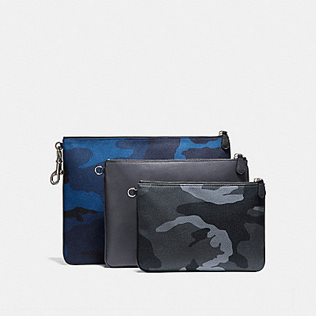 COACH F22497 MULTIPURPOSE POUCH SET CAMO MIX