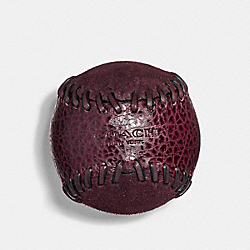 COACH BASEBALL STITCH PAPERWEIGHT - OXBLOOD/BLACK - F22500