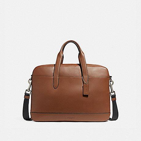 COACH f22529 HAMILTON BAG NICKEL/SADDLE/BLACK