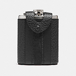 FLASK WITH VARSITY STRIPE - f22537 - BLACK