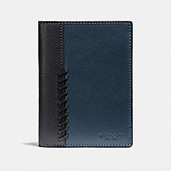 PASSPORT CASE WITH BASEBALL STITCH - f22538 - DENIM/MIDNIGHT