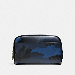 COACH TRAVEL KIT WITH CAMO PRINT - BLUE CAMO - F22545