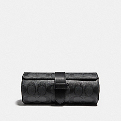COACH F22547 Watch Roll CHARCOAL/BLACK