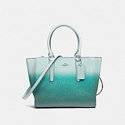 COACH F22557 - CROSBY CARRYALL SILVER/SEA GREEN