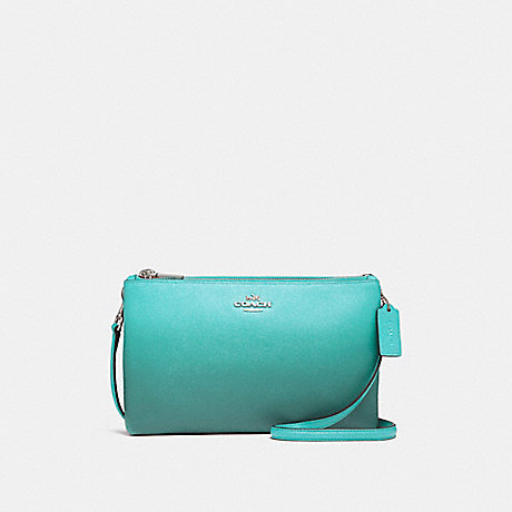 COACH f22558 LYLA CROSSBODY SILVER/SEA GREEN