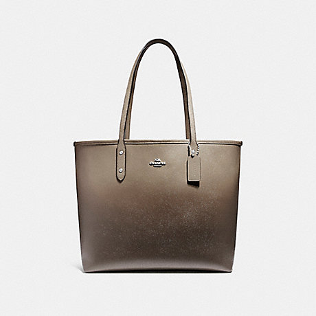 COACH f22560 OPEN CITY TOTE SILVER/FOG