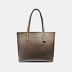 COACH F22560 - OPEN CITY TOTE SILVER/FOG