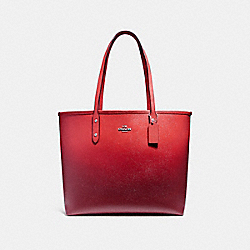 OPEN CITY TOTE - f22560 - SILVER/WATERMELON