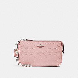 COACH F22698 Large Wristlet 19 With Chain SILVER/BLUSH 2