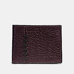 COACH F22707 Boxed Rip And Repair Slim Billfold Wallet OXBLOOD
