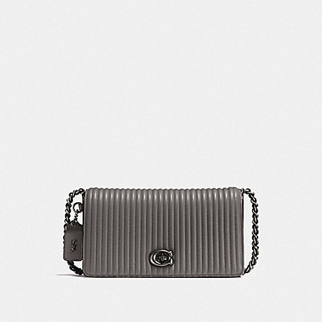 COACH F22729 DINKY WITH QUILTING BP/HEATHER GREY