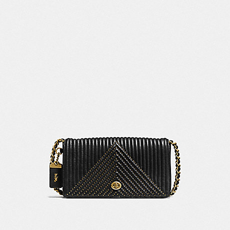 COACH F22789 DINKY WITH QULITING AND RIVETS OL/BLACK