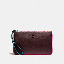 COACH F22790 Large Wristlet With Edgepaint IMFCG