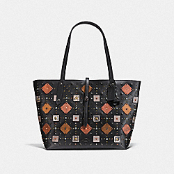 COACH F22793 - MARKET TOTE WITH PRAIRIE RIVETS BP/BLACK