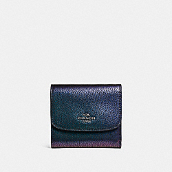 COACH F22796 Small Wallet BLACK ANTIQUE NICKEL/HOLOGRAM
