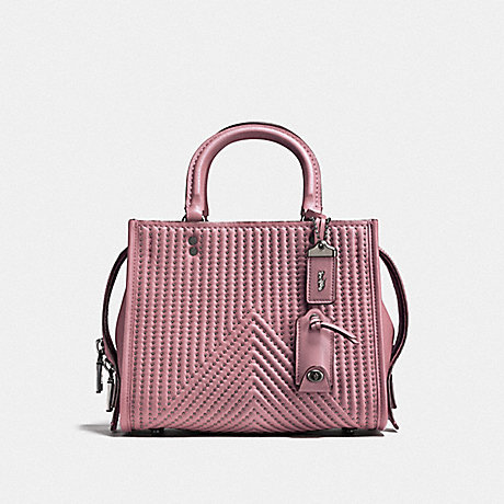 COACH F22797 ROGUE 25 WITH QUILTING AND RIVETS BP/DUSTY-ROSE