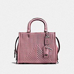 COACH F22797 Rogue 25 With Quilting And Rivets BP/DUSTY ROSE