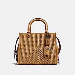 COACH F22797 - ROGUE 25 WITH QUILTING AND RIVETS BP/LIGHT SADDLE