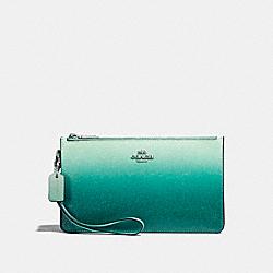 CROSBY CLUTCH - f22799 - SILVER/SEA GREEN