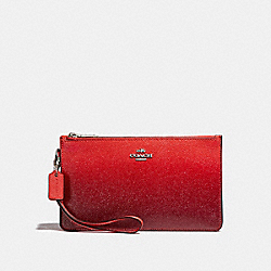 COACH F22799 Crosby Clutch SILVER/WATERMELON